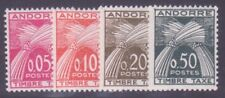 "ANDORRE STAMP TIMBRE TAXE 42/45 "" 4 VALEURS "" NEUFS xx LUXE"