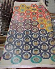 1984 Seven Eleven 7-11 Slurpee Cup Coin Disc UNCUT Sheet RARE MLB Cal Ripken Jr