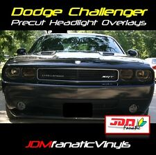 Challenger Smoked Headlight Fog Light Smoke Overlays TINT Vinyl SRT SRT8 Mopar