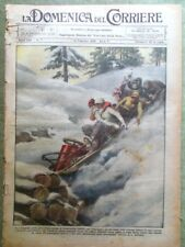 La Domenica del Corriere 12 Febbraio 1928 Mussolini Ibanez Heig Università Roma