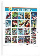 USPS MARVEL COMICS SUPER HEROES 41 CENT STAMPS SHEET SPIDER-MAN HULK WOLVERINE