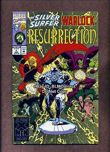 1993 Silver Surfer / Warlock Resurrection #1 Signed By Jim Starlin w/ CoA