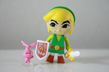 Yujin Legend of Zelda Four Swords Wind Walker Kubrick Figure Link Green Angry