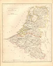 1840 ANTIQUE MAP- HOLLAND AND BELGIUM