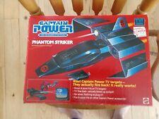 Captain Power Phantom Striker Jet Plane 1987 Mattel with Box