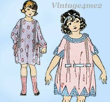 Ladies Home Journal 3815: 1920s Toddler Girls Dress Sz 4 Vintage Sewing Pattern