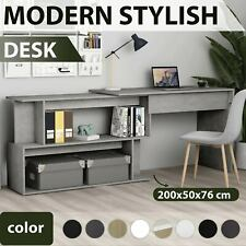 vidaXL Corner Desk 200cm Chipboard Office Writing Workstation Multi Colours
