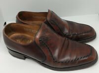 Men's Loake Bros Shoes Size 7 Brown Leather Loafers Made in England Smart Work