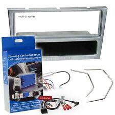 OPEL CORSA C 04-06 1-DIN radio de voiture Set d'installation chromé mat