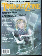 Twilight Zone V 2 # 10 1982 Science Fiction Horror Magazine Blade Runner Xtro