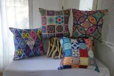 Bohemian Abstract Bright Colours Cotton Blend Cushion Cover 45