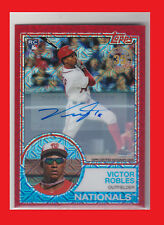 Victor Robles 2018 '83 Topps Silver Pack Chrome Auto Red Refractors #27 2/5