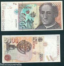 F.C.  BILLETE  DE  ESPAÑA  5000  PESETAS  SERIE A (RARA)  EBC+ MARGENES SUCIOS