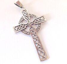 "Celtic Cross PENDANT 2""  Sterling Silver 925 knot present"