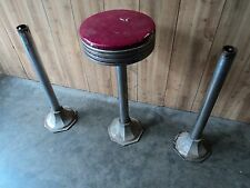 Original Vintage Soda Shop Bar Stool w/ 2 Original stool Base