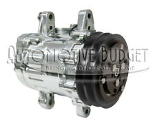 Chrome A/C Compressor w/Clutch for Sanden 7170 - 2GR SD7B10 Swing Mount - NEW