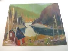 Canada  Québec painting by Louis Tremblay Camps de chasse