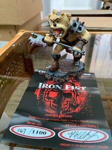 Bad Taste Bear BTB IRON FIST Warhammer Signed Limited Edition With COA 147/1100