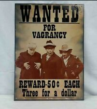 The Three Stooges Wanted For Vagrancy Metal Sign SACK08
