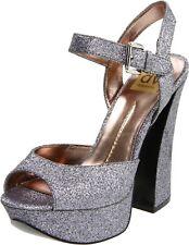 💎Silver Glitter Platform Heels Dolce Vita Free People $148 sz 7.5 Formal Prom