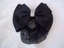 Équitation cristal Dressage Bow et filet à cheveux-noir-par EQUETECH