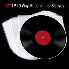 50Pcs Music Vinyl Record Antistatic Clear Plastic Cover Inner Sleeve 12''  HUD f