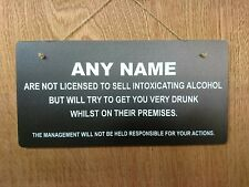 Personalised Home Pub Bar Man Cave Sign (Version 3)