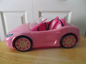 Barbie Doll Glam Pink Convertible Toy Car Mattel 2010 With Seat Belts