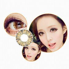 2 Flower Kontaktlinsen Contact Lenses farbig color Braun Fasching Party Makeup