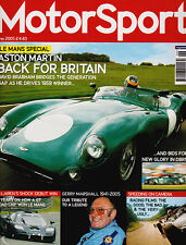 Motor Sport Jun 2005 - Aston Martin DBR1, Gerry Marshall, Leyton House March