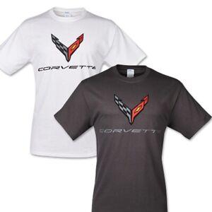 C8 Corvette Next Gen Carbon Flash Cotton T-Shirt - Gray or White