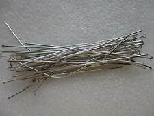 200 x 70mm Silver Plated Head Pins Jewellery Findings