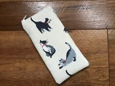 HANDMADE GLASSES SUNGLASSES ZIPPED CASE - CATH KIDSTON SMALL PAINTED CATS FABRIC