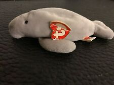 "Ty Beanie Baby ""Manny� Manatee Collectible 3rd / 2nd Generation 1995"
