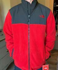 The North Face MEN'S DENALI JACKET size L $179 Red Grey 300 Polartec