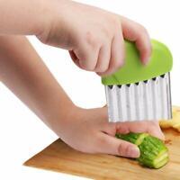 Stainless Steel Vegetable Carrot Wavy Cutter Potato Chips Slicer Cutter Tool