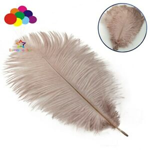 30 color Ostrich feathers 15-20 cm decoration starry wedding mask handmade DIY
