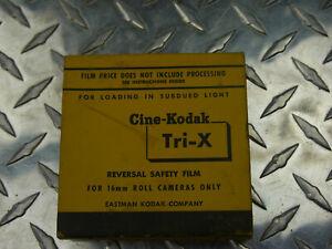 NOS 16MM Film KODAK Tri-X TXR449 Reversal Film 100 ft Black White  1957-58
