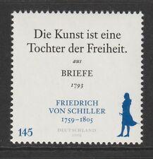 Germania 2009 Johann Christoph Friedrich Schiller SG 3629 Gomma integra, non linguellato