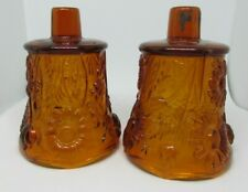 2 Vintage Home Interiors Homco Amber Gold Daisy Votive Cup Sconce Candle Holders