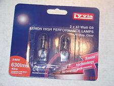 G9 42 W Xenon bombillas de la cápsula lámparas UV-Stop claro 240 V Pack 2 por Lyvia