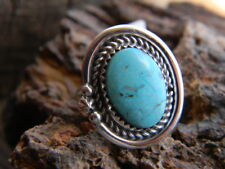 made turquoise ring size 6 Magnificent sterling silver ladies Navajo