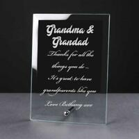 Personalised Engraved Glass Plaque Grandma and Grandad Gift PEG-GRAGRD