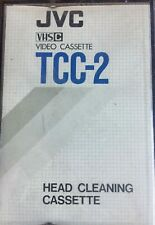 JVC VHS-C Camcorder Compact Video Cassette Head Cleaning Tape TCC-2