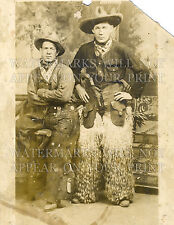 Cowboys chaps pistol old soiled image repro photo CHOICES 5x7 or request 8x10 or