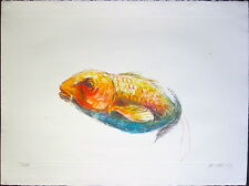 "John Battenberg ""Swish,"" 2008, Color Monotype"