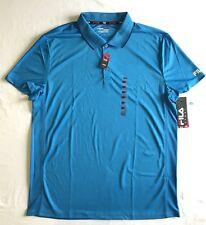 Fila Sport Golf Men Fitted Core Performance Polo Shirt - Light Blue - XL