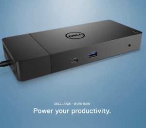NEW Factory Sealed Dell Docking Station WD19 180W with 130W PowerDelivery 05TFT1