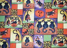 HALLOWEEN VALANCE CURTAINS PUMPKINS BLACK CATS WITCHES BATS & MORE