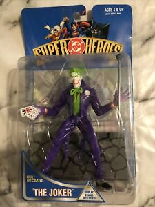 """RARE Vintage 1990's HASBRO DC Super Heroes """"The Joker"""" Action Figure (1999) MOSC"""